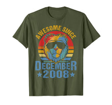 Load image into Gallery viewer, Lion 2008 Awesome December 11th Birthday Gifts Men King T-Shirt