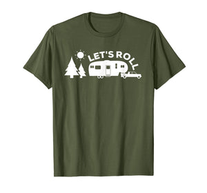 Let's Roll Camping Shirt 5th Wheel RV Tee Vacation Gift