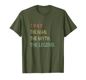 The Myth The Legend 1949 70th Birthday Gifts 70 years old