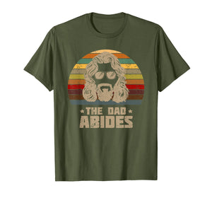 Mens The Dad Abides Retro Father's Day T-Shirt