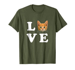 Love Orange Cat Shirt I Heart Love Cats Shirt Cat Lover Gift