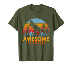 4th Birthday Gift Shirt Dinosaur 4 Year Old Tshirt for Boy
