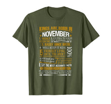 Load image into Gallery viewer, Mens Kings Are Born In November Funny Birthday T-Shirt
