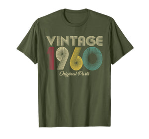 Vintage 1960 T-Shirt Original Parts Men Women - Birthday