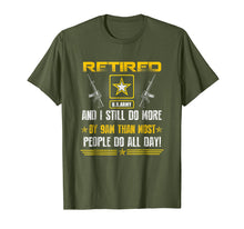 Load image into Gallery viewer, Retired US Army Veteran T-shirt Gift For Veteran Day