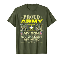 Load image into Gallery viewer, Proud Army Mom T Shirt for Military Mom My Soldier My Hero