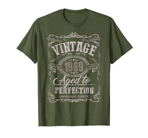 50th Birthday gift shirt Vintage dude 1969 50 year old shirt