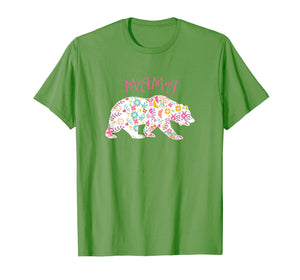 Mother's Day T-shirt Pink Floral Best Mama Bear Shirt Gift