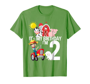 It's My Birthday Farm Theme Birthday Gift 2 Yrs Old Shirt