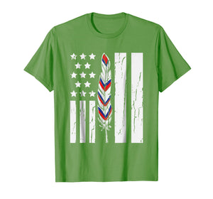 American Flag Native Tribe Feather Pride Shirt