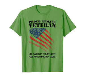 Proud Female Veteran Tees Gift For Independence Day