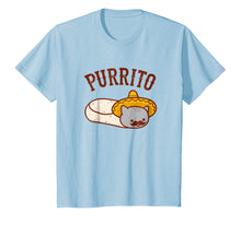 Load image into Gallery viewer, Cat T-Shirt: Mexican PURRITO - Mustache & Sombrero