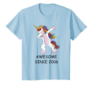 Awesome Since 2006 - Dabbing Unicorn 12th Birthday T-Shirt