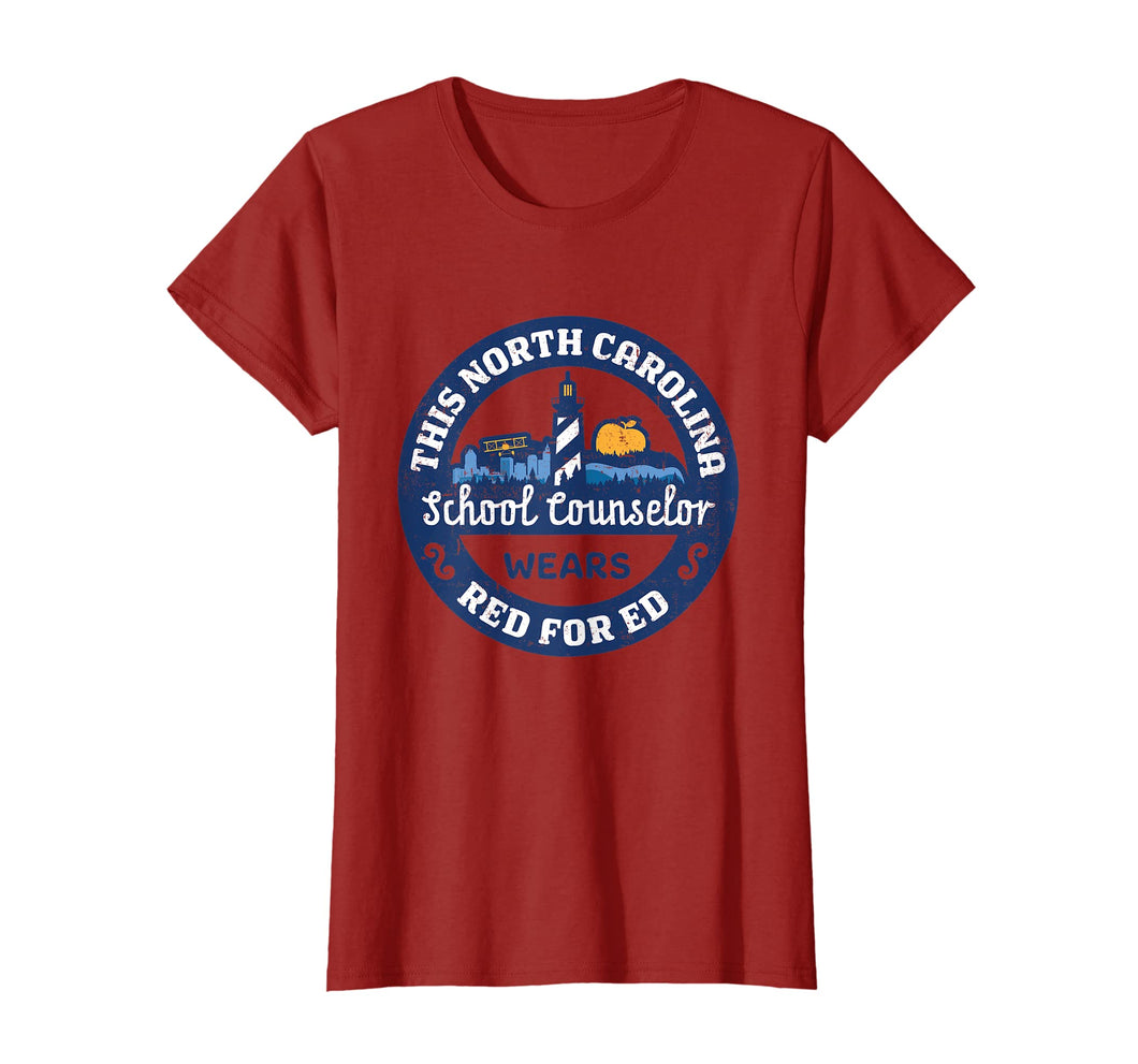Red For Ed Shirt North Carolina School Counselor TShirt