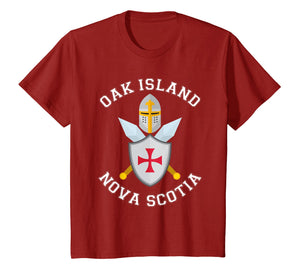 Oak Island T Shirt - Knights Templar Shield Helmet Blades