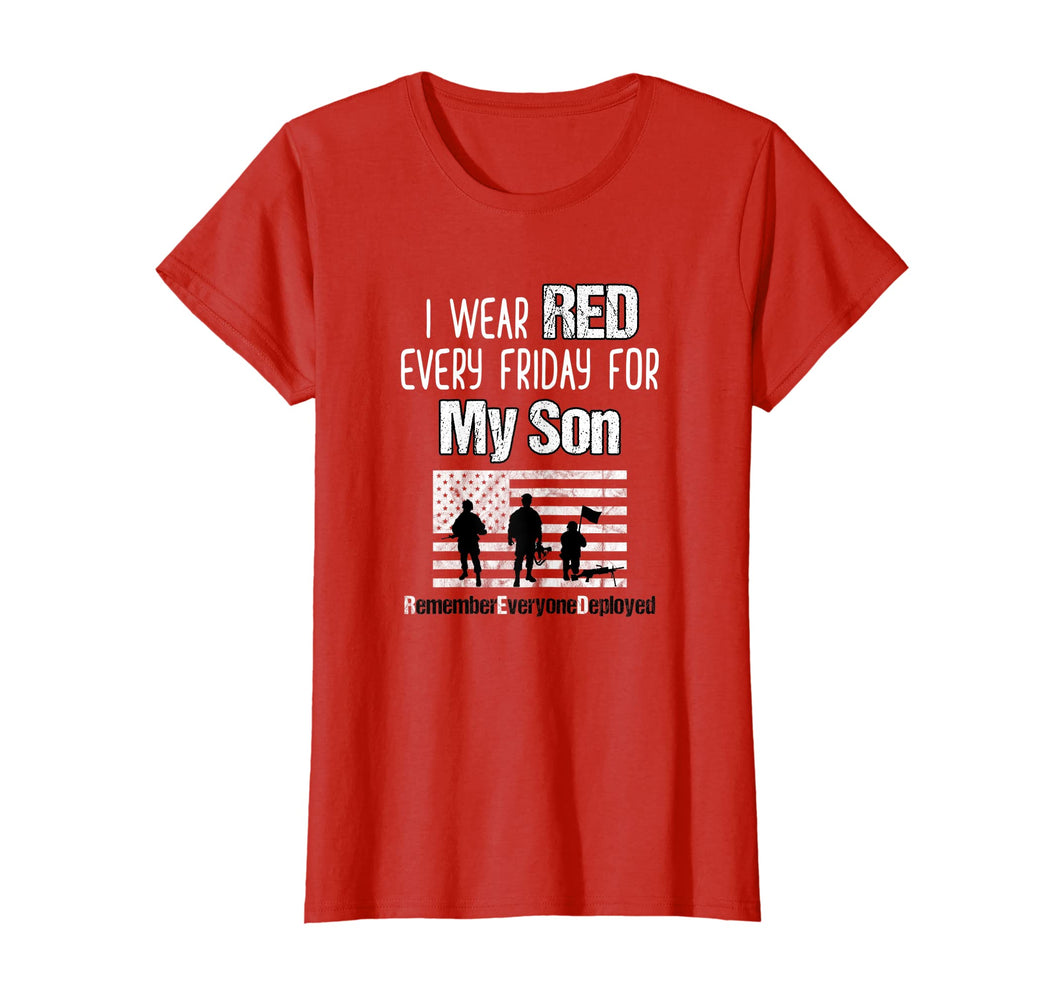 Red Friday Shirt Military Family Member Deployed Son