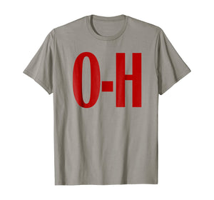O-H Couples Matching Ohio Sports Football Funny Fun T-shirt