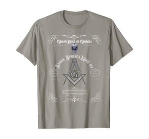 Masonic Freemason with Sandy Springs Lodge T-Shirt