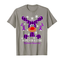 Load image into Gallery viewer, Reindeer Hope For A Cure Alzheimer Awareness Christmas T-Shirt