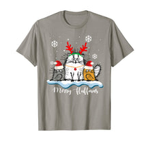 Load image into Gallery viewer, Merry Fluffmas Cats With Santa Hat Reindeer Horn Christmas T-Shirt