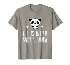 Life Is Better With A Panda Animal Bear Hearts T-Shirt