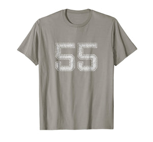 Number # 55 T-Shirt Numbered retro Style Birthday Gift
