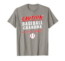 Load image into Gallery viewer, Baseball Grandma Caution Will Yell Loudly Funny T-Shirt
