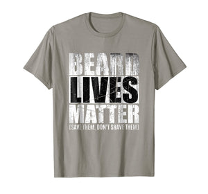 Beard shirts for Men BEARD LIVES MATTER Bearded Men Shirts