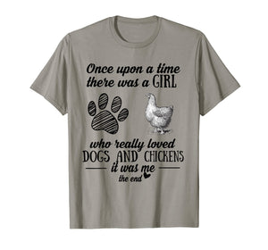 A Girl Who Really Loved Dogs and Chickens Funny T-shirt