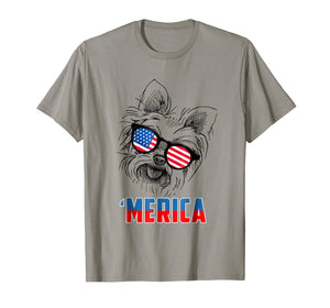 4th of July Patriot Yorkshire Terrier Merica Shirt Dog Lover