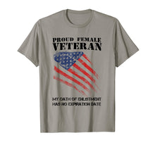 Load image into Gallery viewer, Proud Female Veteran Tees Gift For Independence Day