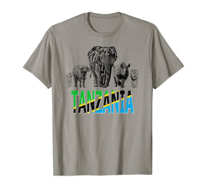 Africa's Big Five Tanzania Wildlife T-shirt