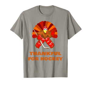 men and women Turkey gift - thankful for hockey thanksgiving T-Shirt
