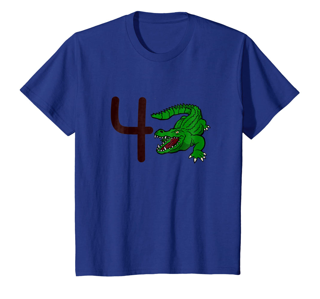 Kids 4 Year Old Alligator Birthday Party 4th Birthday Shirt