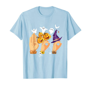 ASL Boo Sign Language Funny Halloween Costume Gift T-Shirt
