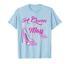 Load image into Gallery viewer, A Queen Was Born In May Shirt Happy Birthday Taurus Gemini T-Shirt