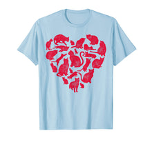 Load image into Gallery viewer, Valentines Day Cat T shirt Women Heart Funny Kitty Kitten