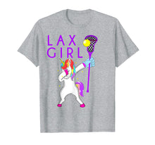 Load image into Gallery viewer, Lax Lacrosse Girls Tshirt Dabbing Unicorn Player Gift Tee