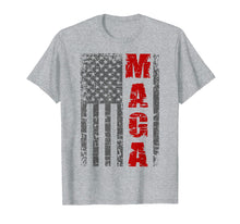 Load image into Gallery viewer, MAGA Flag TShirt Distressed American Flag Shirt