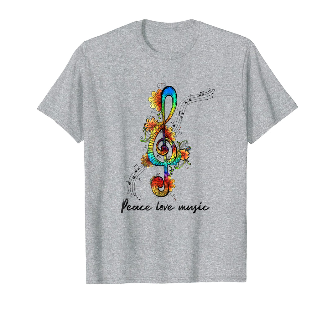 Peace Love Music Music Note T-Shirt