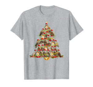 Owl Xmas Tree Merry Christmas Funny Owl Lover Gifts T-Shirt