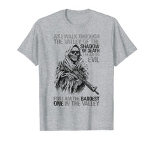 Load image into Gallery viewer, BADDEST IN THE VALLEY Skull Gun Lover Gift T-Shirt