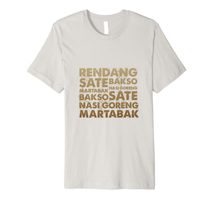 The Best Indonesian Food T-shirt Design