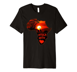 Africa T Shirt Map Of Africa Tee South African Sunset Safari