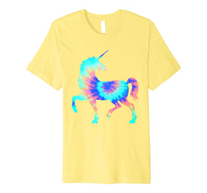 Tie Dye Unicorn Shirt | Colorful Tye Dye Horse Horn T-Shirt