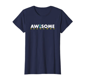 F in Awesome Hawks T-Shirt