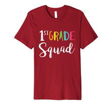 Load image into Gallery viewer, Team 1st First Grade Squad Teacher Back To School T-Shirt