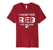 Load image into Gallery viewer, Red Friday Military Mom Shirt Women's I Wear Red For My Son