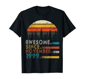 Classic Vintage Made in November 1999 20th Birthday Gift T-Shirt
