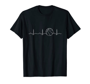 Basketball Heartbeat Shirt, Funny Player Team Coach Gift